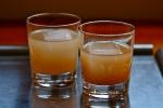 Extra-stormy Dark & Stormy + Clementine-lemon-ginger sparkler