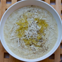 Roasted parsnip & Jerusalem artichoke soup