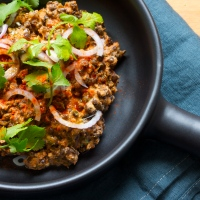 Puy lentils with tomatoes, tahini & cumin